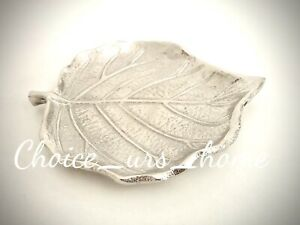 LOVELY SILVER LEAF DECORATIVE TRINKET DISH HOME DECOR RINGS, JEWELLERY 12.5cm
