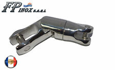 Connecteur chaine Emerillon 2 Articulations 6/8mm Pivotant inox 316