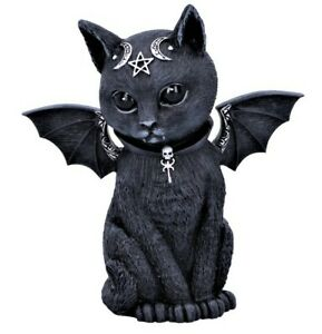Malpuss Winged Occult Vampire Bat Cat Figurine Gothic Ornament Statue NEW IN