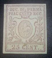 ANTICHI STATI PARMA 1859 25 cent n.10 nuovo con gomma *