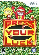 PRESS YOUR LUCK: WII,  Nintendo Wii, Nintendo Wii Video Game