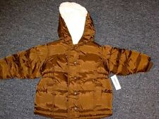 Old Navy Hooded Brown Winter Coat girl 6-12 months  NEW