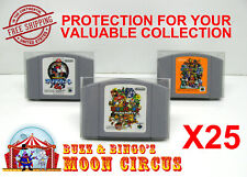 25X NINTENDO N64 JAPAN IMPORT CARTRIDGE -CLEAR PLASTIC PROTECTIVE BOX PROTECTOR