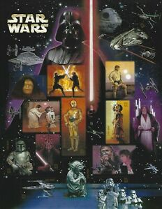 Star Wars 41 Cent USPS Stamp Sheet 15 Stamps 2007 Harrison Ford Mark Hamill C3PO