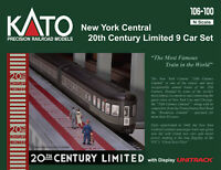 Kato 106-100 N 1/160 New York Central 20th Century Limited 9 Car Set PRE-ORDER