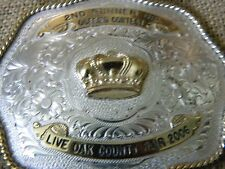 Montana Silversmith BELT BUCKLE 2nd Runner up Queens contest Live Oak Fair 2006