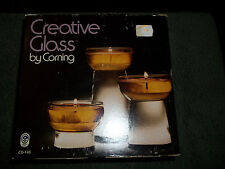 Creative Glass by Corning, 3 Glass Lamps - NIB