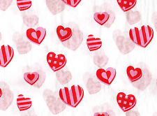 Red and Pink Heart Tissue Paper # 445 ~ 10 Large Sheets