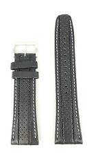 Watchband Seiko Calf Black Leather -B 24mm SNAB55P1 Watch Strap 7T62 0HL0 4LR4JB