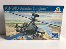 AH-64D APACHE LONGBOW 1:72 ITALERI No080 MODEL KIT WITH DUTCH AND BRITISH DECALS
