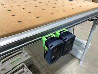 Festool MFT/3 Table Battery Holders for Festool 18v Batteries - Pack of 2