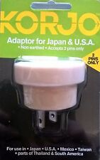 Korjo Travel Adapter for Japan and USA fr Australia NZ * *2 Pin **