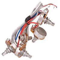 Electric Guitar Circuit Wiring Kit A500K B500K Pots Potentiometer w/ Socket