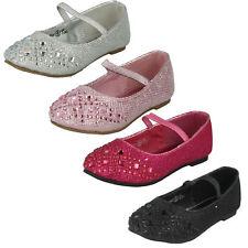 Mädchen Spot On Party Schuhe - H2R303