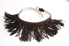 Gorgeous Women Bohemian style Brown Skinny Belt w Tassels Skirt Attached (S338)