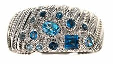 Judith Ripka Blue Blue Topaz Sterling Silver band Ring Size 6