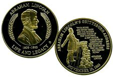 LINCOLN'S GETTYSBURG ADDRESS COMMEMORATIVE COIN PROOF LUCKY MONEY VALUE $99.95
