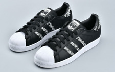 "New adidas Men's SUPERSTAR BD7430 Sneakers ""Graffiti"" Black White Retro SZ 10"