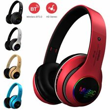 Wireless Foldable Over Ear Bluetooth Headphones Earphones Headset Stereo W/ Mic
