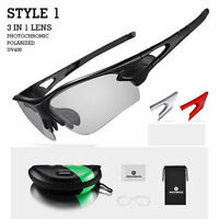 ROCKBROS Cycling Photochromic Sunglasses Polarized Lens Sports Goggles