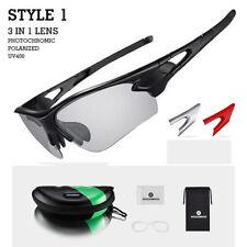 ROCKBROS Photochromic Glasses Sunglasses Polarized Lens Sport Goggles Eyewear