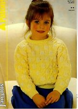 Patons Fairytots Easy Knit KNITTING PATTERN, Childs Girls SWEATER