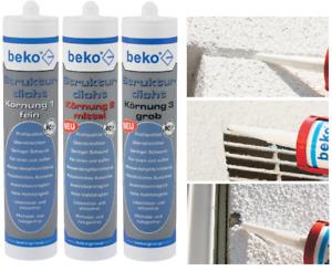 Beko Strukturdicht Acryl weiß 310 ml - Körnung 1 / 2 / 3 - Reparatur Putz Fugen