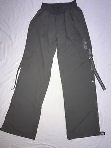 ZUMBA Pants Size Medium 10-12 Grey Dance Lightweight Gym Activewear