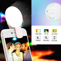 Portable Selfie Flash Led Camera Clip-on Phone Selfie Ring Light  Fill Light