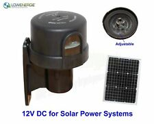 Photocell Timer Switch Dusk till Dawn Sensor 12V DC solar power outdoor light