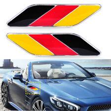 2x Car German Germany Flag Emblem Badge Stripes Sticker Decals For VW Audi Benz