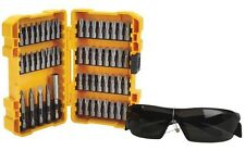 Dewalt DT71540-QZ 53 pièce sans balai embout tournevis ensemble & lunettes de sécurité. rrp £ 30