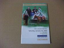 CHELTENHAM RACE CARD - JANUARY 1ST, 2005 - THE UNICORN HOMES STEEPLE CHASE