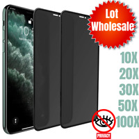 Wholesale Lot For iPhone 11 XR Xs 7 Plus Privacy Tempered Glass Screen Protector