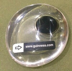 Guinness Storehouse Factory Bubble Entry Token Resin Paperweight