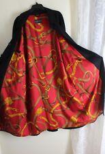 Sulka -Sz 52 Men's Exquisite Long Silk Lined Car Coat Jacket 42 Black Wool