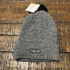 d78015dbc2b1 NEW Nike SB Skateboarding Pom Beanie Hat Black White 806092-010
