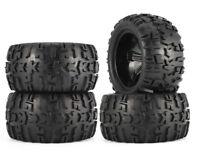 1/8 Rc Monster Truck Wheels Tires Set For Thunder Tiger Mt4 G3 K-Rock Kaiser