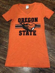 Victoria's Secret Pink Collegiate Oregon State Beavers OSU Bling Ncaa T-Shirt