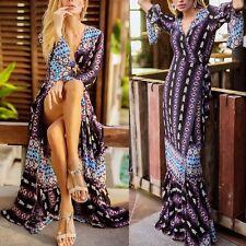Vestito Lungo Maxi Primavera Estate Donna Woman Etnic Maxi Spring Dress 110346 P