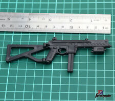 """1:6 Scale Black Plastic Submachine Gun Weapon Model toy For 12"""" Action Figure"""