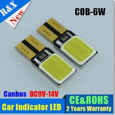 2 x6W COB SMD LED 501 T10 W5W WEDGE CANBUS NO ERROR FREE INTERIOR LIGHT BULB