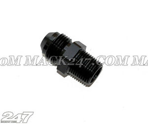 """NPT to Straight Male Flare Adapter 1/8"""" to -4AN Compatible w/ Aeroflow Speedflow"""