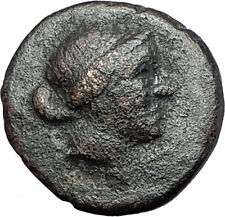 KYME in Aeolis 250BC Authentic Ancient Greek Coin AMAZON w HORSE & VASE i61568