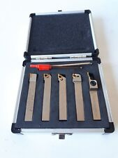 5pc Indexable TiN Carbide Lathe Tools 10mm Set - Includes Parting Off Tool