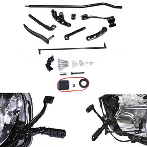 Black Forward Controls 1991-2011 Harley Dyna Complete Kit New w// Pegs /& Levers