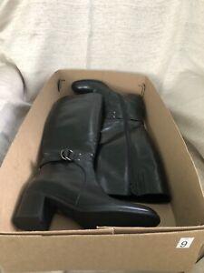 LAVORAZIONE ARTIGIANA Black Leather Boots Made in Italy US 9