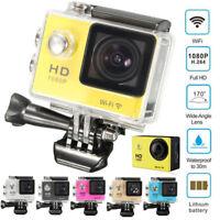Waterproof Ultra HD 1080P WiFi DV Action Sports Video Camera 170° Camcorder UK