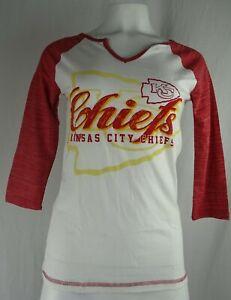 Kansas City Chiefs NFL Women's Majestic Notch Neck T-Shirt