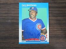 1987 Fleer # 568 Gary Matthews Autographed / Signed card (C) Chicago Cubs